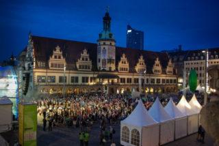 Stimmungsvoll war das Dankeschön-Fest am Samstagabend in der Leipziger Innenstadt. Foto: SMMP/Bock