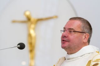 """Pater Guido Hügen ermahnte: """"Der Weg ist nicht das Ziel. Der Weg muss immer ein Ziel haben. Im Ordensleben heißt dieses Ziel Gott."""" Foto: SMMP/Ulrich Bock"""