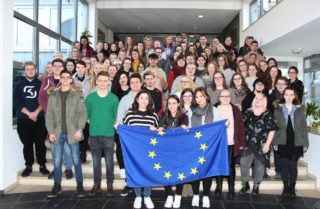 75 Schüler aus dem Berufskolleg Bergkloster Bestwig absolvierten im Frühjahr 2018 ein Auslandspraktikum. Foto: Ingo Seidel/SMMP