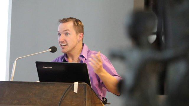 Der Vortrag von Christoph Rickels hatte auch heitere Momente - denn er sieht zuversichtlich in die Zukunft. Foto: SMMP/Ulrich Bock
