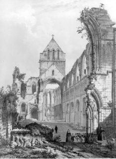 Die Ruine der Abtei St. Sauveur-le-Vicomte.
